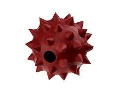 Classic Pet Products Gummi Spike Ball mit Glocke, Groß, 90 mm, rot