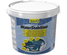Tetra Pond WaterStabiliser (stabilisiert wichtige Wasserwerte, optimiert den KH- und pH-Wert im Gartenteich, beugt weichem Teichwasser vor), 6 kg Eimer mit Dosierschaufel
