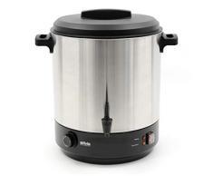 Silva Homeline HGA 5000 mit Auslaufhahn, Zum Erwärmen, Warmhalten, Einkochen oder als Kochtopf verwendbar, 2500, 30 liters, Inox