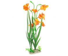 sourcingmap Kunstpflanze für Aquarien, 34 cm, Grün/Orange