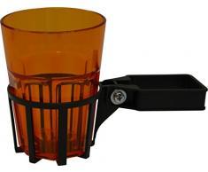 Angerer Getränkehalter für Hollywoodschaukel Vierkant eisengrau, inkl. Becher orange, 980/0002