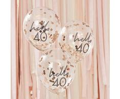 Ginger Ray Mix It Up Rose Gold Konfetti gefülltHello 40 Ballons Party