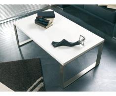 HAKU Möbel 87320 Couchtisch 100 x 60 x 38 cm, edelstahloptik / weiß