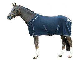 HKM Fleecedecke mit Kragen, dunkelblau, 145