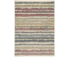 benuta 4053894713729 Teppich Justin, Kunstfaser, mehrfarbig/rosa, 140 x 200 cm