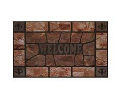 Achim Home Furnishings rrm1830cs6 Clay Stein erhöhter Gummi Fußmatte, 18 von 76,2 cm