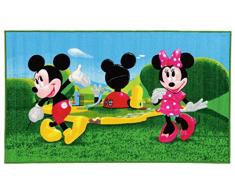DISNEY 15419 Mickey Mouse Clubhouse Teppich, Synthetikfaser, mehrfarbig, 80 x 140 x 1,12 cm
