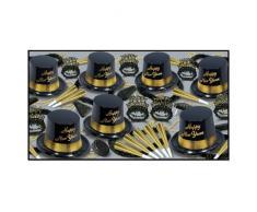 Beistle 88780-50 Deko Legacy Party-Sortiment für 50 Personen ASSORTMENT FOR 25 PEOPLE schwarz/gold