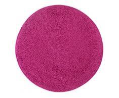 misento 292186 Hochflorteppich Shaggy, 100 cm rund, rosa