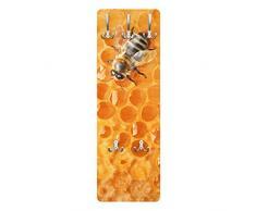 Apalis 79046 Wandgarderobe Honey Bee | Design Garderobe Garderobenpaneel Kleiderhaken Flurgarderobe Hakenleiste Holz Standgarderobe Hängegarderobe | 139x46cm
