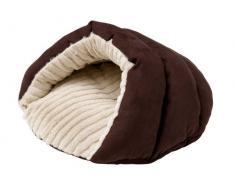 HUNTER BRIGHTON Katzenhöhle, Katzenbett, Schlafplatz für Katzen, weich, kuschelig, 60 x 60 cm, braun