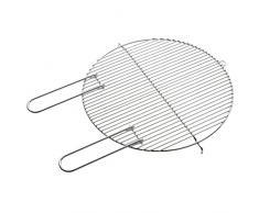 Grillrost rund mit Haltegriffen Ø 43-cm für Holzkohlegrill verchromt leicht zu reinigen