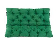Ambientehome 2er Bank Sitzkissen und Rückenkissen Hanko, grün, ca 120 x 98 x 8 cm, Bankauflage, Polsterauflage