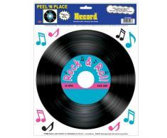Beistle 55407 Record Peel N Place Partydekoration, 30,5 x 38,1 cm