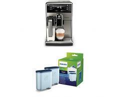 Saeco PicoBaristo SM5473/10 Kaffeevollautomat (integrierte Milchkaraffe, AquaClean) edelstahl + Philips CA6903/22 AquaClean Wasserfilter, Vorteilspack