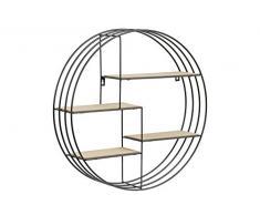 AC Design Furniture Nadine Regal, Holz, Schwarz, 10 x 45 x 45 cm