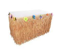 Hawaiian Luau Hibiskus natur Farbe Schnur und bunte Seide Faux Blumen Tisch Hula Gras Rock für Party Dekoration, Events, Geburtstage, Celebration (1 Pack) von Super Z Auslass