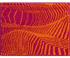 Grund KARIM RASHID Exklusiver Designer Badteppich 100% Polyacryl, ultra soft, rutschfest, ÖKO-TEX-zertifiziert, 5 Jahre Garantie, KARIM 13, WC-Vorlage o.A. 50x65 cm, orange