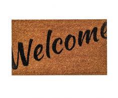 """Ninamar Fußmatte """"Welcome"""" aus Natur Kokosfaser - 75 cm x 44 cm"""