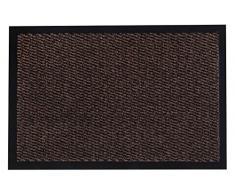 andiamo Schmutzfangmatte, Fußmatte aus Polypropylen – Indoor/Outdoor geeignet - in 80 x 120 cm Braun – 5 mm Höhe