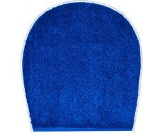 Grund Badteppich 100% Polyacryl, ultra soft, rutschfest, ÖKO-TEX-zertifiziert, 5 Jahre Garantie, RIALTO, WC-Deckelbezug 47x50 cm, blau
