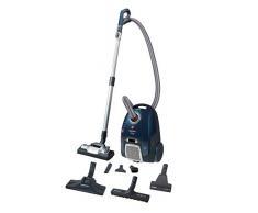 Hoover Telios Extra TX 60 PET 011, 4A++, 62dB, Staubsauger mit Beutel, komfortabler Schlaufengriff, Plastik, 3.5 liters, Blau