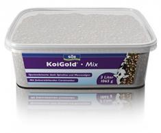 Söll 18793 KoiGold Mix - Alleinfuttermittel für alle Koi-Fischfutter - Gartenteich, 1er Pack (1 x 1 kg)