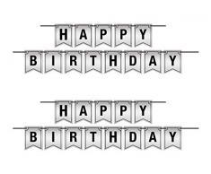 Beistle 53443 Luftschlangen Happy Birthday, 2 Stück, 15,2 x 3,8 m, schwarz/silber