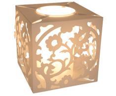 Naeve Leuchten Tischleuchte / exklusiv Leuchtmittel / mit Schnurschalter / Höhe: 18 cm / ø 16.5 cm / Dekofolie, weiß 3005323