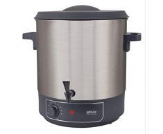 Silva Homeline HGA 4500 mit Auslaufhahn, Zum Erwärmen, Warmhalten, Einkochen oder als Kochtopf verwendbar, 1800, 27 liters, Inox