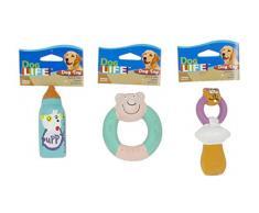 Penn-Plax Spielzeug Sortiert Fläschchen/Sauger/Ring für Welpen 5 cm