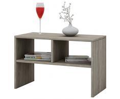 VCM Tisch Sofatisch Beistelltisch Couchtisch Wohnzimmertisch Kaffeetisch Nachttisch Sonoma-Eiche 45x60x40 cm Nachto