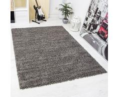 Prime Shaggy Teppich Farbe Anthrazit Hochflor Langflor Teppiche Modern für Wohnzimmer Schlafzimmer - VIMODA, Maße:100x200 cm