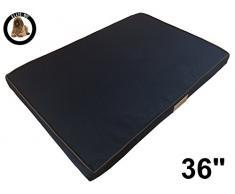 Ellie-Bo wasserdichte Memoryfoam Orthopädisches Hundebett für Käfig, groß, 91,44 cm, schwarz.