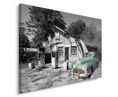 Feeby, Wandbild - 1 Teilig - 60x80 cm, Leinwand Bild Leinwandbilder Bilder Wandbilder Kunstdruck, AUTO, CHRYSLER, MOTORISIERUNG, SCHWARZ UND WEIß