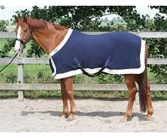 Harrys Horse 32200086-07205 cm Fleecedecke Prunkmodell mit Bauchlatz, L, Marine