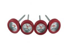 Jim Beam Grillbesteck / Grillzubehör Minithermometer Set, 4 tlg.