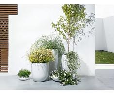 Iseo Übertopf, Gartenzubehör, 35 x 35 x 19 cm, Weiß