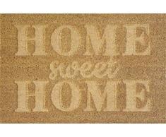 """Verdemax 5479 Viereckige Fußmatte Sweet Home"""", Beige"""