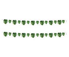 Beistle 52181 Tropische Palmenblätter Luftschlangen 2-teilig, 20,3 x 22,9 cm, grün