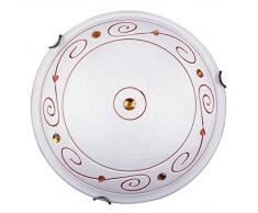 Rabalux 3920 Kleon, Deckenleuchte, Weiß-Bronzefarbene Kralle
