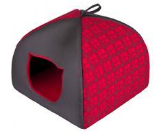 HobbyDog R3IGLCWK1 Katzenbett/Sofa / Korb Iglo Karierte, rot, Größe R3, 47 x 47 cm