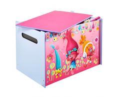 Trolls Spielzeugkiste für Kinder – Aufbewahrungsbox für das Kinderzimmer