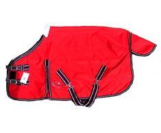 Cwell Equine New Mini leicht Wahlbeteiligung Shetland Teppich Pony Teppich Fohlen Teppich Keine Füllen Wahl von Größen & Farben (4 Füße 15,2 cm, rot)