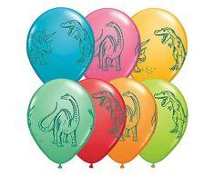 La Luftballons 94.226,4 cm Dinosaurier in ActionQualatex Latex Luftballons (50 Pack), 27,9 cm Festive