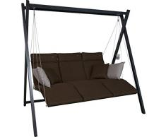 Angerer Relax Hollywoodschaukel 3-Sitzer Smart, coffee, 220 x 150 x 210 cm, 7000/270
