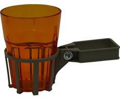 Angerer Getränkehalter für Hollywoodschaukel Vierkant champagner, inkl. Becher orange, 982/0002