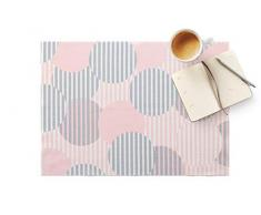 DAY DRAP Tischset Polka Dot rosa, recycelte Baumwolle, 45x32 cm, 2 Stück