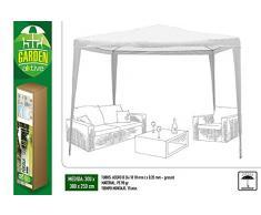 AKTIVE Pavillon 300 x 300 x 240 cm, Kunststoff, weiß (COLORBABY 53857)