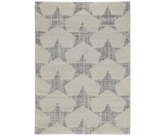 benuta 4053894713156 Teppich Justin, Kunstfaser, beige/grau, 80 x 150 cm